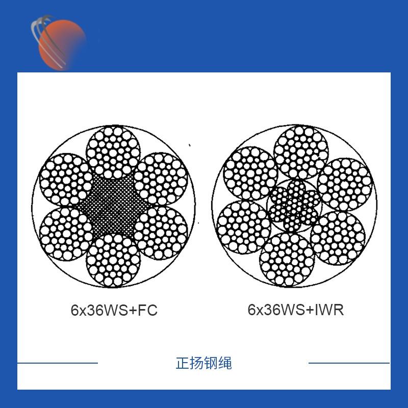 6x36WS+FC镀锌钢丝绳